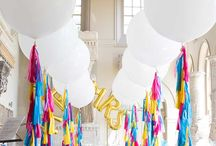 Styling ◊ Balloons / Balloons are back! Check out these stylish and fun ways to include balloons in your wedding. They look great in photos!