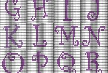 Crafty Stitching - Alphabet, Letters and Numbers / Different types of letters and numbers for tapestry, cross stitch and embroidery.  / by Gillian Taylor