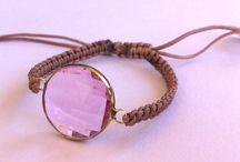 Βραχιόλια με ημιπολύτιμες πέτρες / Χειροποίητα βραχιόλια μακραμε με ημιπολύτιμες  πέτρες - Macrame handmade bracelets