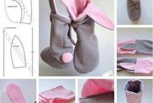 Bunny slippers / Nähen