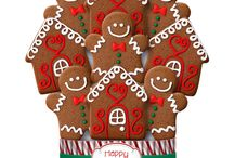 2014 Christmas / Holiday Decorated Cookie Bouquets / Gifts / Celebrate the joy of the season and share the sweet gift of our famous shortbread cookies with friends and family.