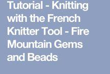 French knitting tutorial
