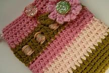 Crochet - Cell phone / Ipad / Kindle Covers / by Nivethetha Sudhakar