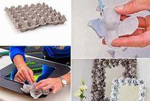 Crafts / Egg carton flowers