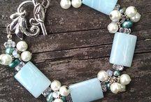 řetízky a korálky náhrdelník