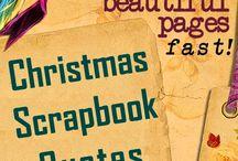 christmas scrapbooking / scrapbooking the Christmas season