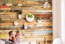 murolegno / parete con assi di riciclo