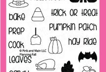 Planning Fall / Clear stamp from pinkandmain.com