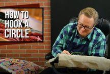 hook rugs, various weaving styles,