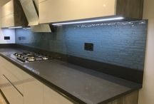 Splashbacks / Toughene glass splashbacks for kitchens