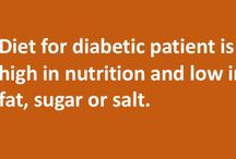 Diet for diabetic Patient / Diet for diabetic patient is usuallyrich in nutrition and does not contain much fat, sugar or salt. Sodiet for diabetic patient is nothing but a very balanced diet that does not cause much harm to the diabetic patient. If a diabetic person eats food that contains lot of sugar or carbs or starches, the blood sugar levels might spike.