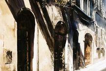 Paul Dmoch watercolor