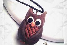 Polymer clay  / #owl #owls #fimo #polymer clay