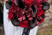wedding red bouquets