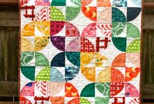 Drunkard's path quilts