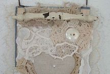 Lace heart collage