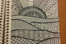 Zentangle Inspiration / Zentangles as far as the eye can see! / by Pepper Hayes