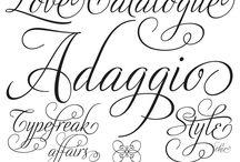 Fonts / Lettertype's