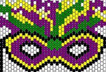 Beadwork / Bead pattern. Beed loom. Beed accessories. Разные техники