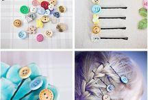 hair ties and pins