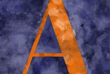 Alphabet / An alphabet painted.