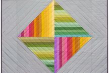 String quilt blocks / Different ways to arrange string pieced quilt blocks