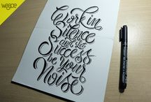 Typography and Lettering / This is my collection hand lettering