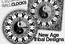 CLOCKS {products} / Customizable Square and Round Wall Clocks designed by webgrrl.biz