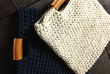 Вязаные сумки из трикотажной пряжи | Knitted bags