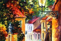 Paintings by LEONID AFREMOV / by Rochelle Dcosta