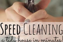 Cleaning and being clutter free / Clean and no clutter