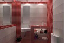 collection AQUARELLA - 3D ΑΠΕΙΚΟΝΙΣΗ ΜΠΑΝΙΟΥ / Σχέδια μπάνιου με πλακάκια από την σειρά Aquarella με διάσταση 20x50cm. Το μπάνιο έχει διάσταση 1.40x1.00 m και ύψος 2,40 m.