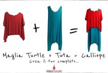 Calliope / Mix and match your favorite colors. Tuta + maglia Turtle