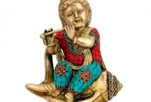 Cute Little Lord Krishna Statues | Handmade Authentic Premium Quality Handicrafts