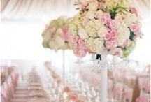 light pink centerpieces