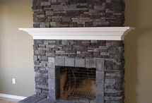 Project: Fireplace. Interior Design Ideas. Tiles and Bathrooms. / Inspiration for your fireplace projects. Bathroom, kitchen, tile interior design ideas. Visit us at ROCCIA to assist you in creating your dream room.