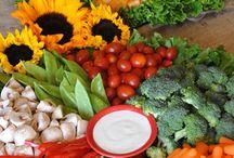Mesas con vocados de verduras