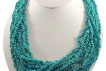 Blue Turquoise Bead Necklaces