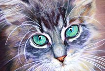 Cats art realistic