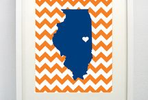 With Love, From Illinois / Find great DIY ideas to show your love for Illinois or your favorite Illini sweetheart <3