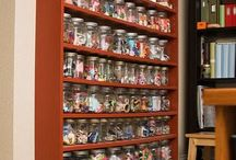 Creative Space / Crafty girl, I am! Creative people need spaces that inspire. Organized space only makes it easier.  I've been on a journey of renovating my own craft room only to find it a challenge to work in the space I have.  Need FRESH, inexpensive ideas!  And, for the costly ideas, a girl can dream and hope.