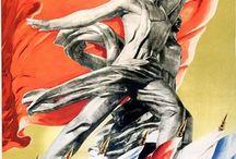 политический плакат СССР / агитплакат 20-30-х годов и более позднего времени