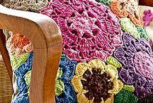 Almofadas em crochês