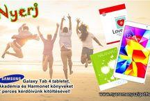 """Töltsd ki """"Támogatói szokások"""" kérdőívünket értékes NYEREMÉNYEKÉRT! / Válaszolj 7 perces kérdőívünkre és nyerd meg a - Samsung Galaxy Tab4 7.0 WiFi 8GB (SM-T230) tabletet a Samsung Electronics Magyar Zrt. felajánlásából, - az 5 db """"Love 2.0, Határtalan szeretet """"című könyv az Akadémiai Kiadó felajánlásából, vagy - a 10 db """"Hálanapló – Öröm"""" című könyv egyikét a Harmonet felajánlásából!  http://nyeremenysziget.hu/gift/761"""