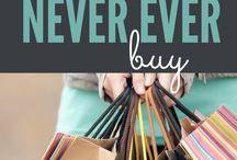 Savings when shopping