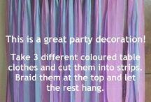 party decor   / party decorating ideas