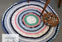 Upcycled Crochet Rugs / The Paidaan Collection /  Upcycled crocheted rugs made with tshirt production waste by low-income craftswomen in India. Shop at www.chindi.in.