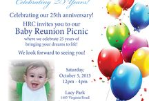 Baby Reunion Picnic 2013 / HRC Fertility is excited as we celebrate our 25th anniversary and our annual Baby Reunion Picnics.
