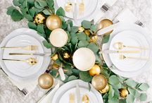 White & Gold Table Setting