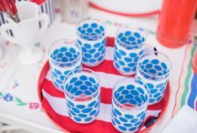 Memorial Day / Summer starts with Memorial Day grilling get-togethers, backyard barbecues, brat frys, beach outings and cookbout parties.  Vintage kitchenware brings some nostalgia to help remember those who helped protect America.  Entertain with red, white and blue of course. Please take a few moments during your summer kick off celebrations to remember and thank those who have served.
